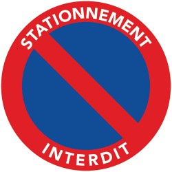 Autocollants de stationnement interdit