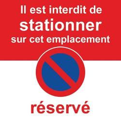 Autocollant stationnement interdit sur place réservée