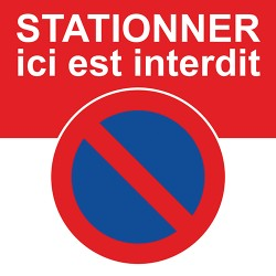 "Autocollants ""Interdiction de stationner ici"""