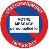 Sticker interdiction de stationner à personnaliser