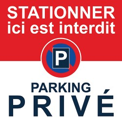Autocollants de stationnement interdit car parking privé
