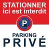 Il est interdit de stationner ici car c'est un parking privé
