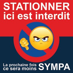 Autocollant interdiction de stationner