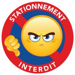 stickers stationnement interdit