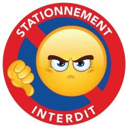stickers stationnement interdit emoji