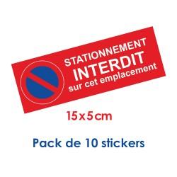 Stickers stationnement interdit petit format