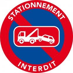 Autocollant mise en fourrière car stationnement interdit