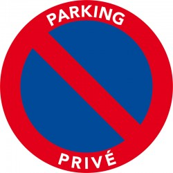 Parking Privé. Autocollants de stationnement interdit