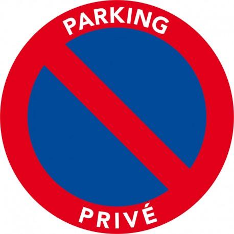 Le stationnement est interdit sur parking privé