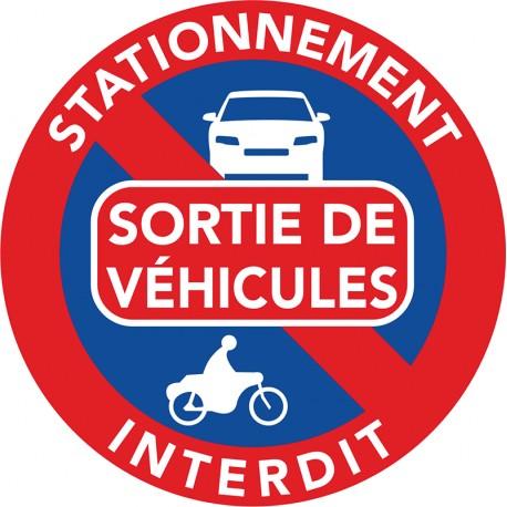 interdiction de stationner devant une sortie de voitures