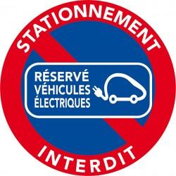 Stationnement interdit sur borne de recharge électrique