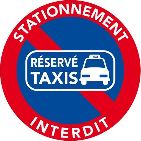 interdiction de stationner sur les emplacements Taxis