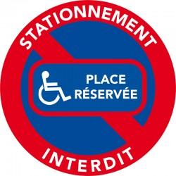 Stationnement réservé aux hndicapés