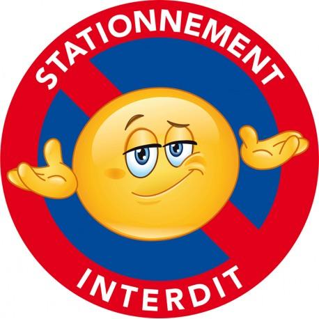 Avertissement interdiction de stationner