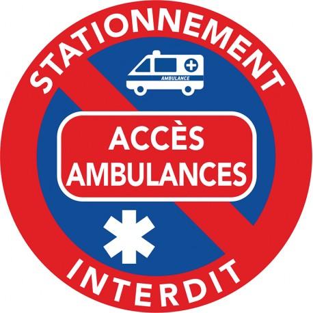 Stationnement interdit sur les accès et voies réservées ambulances