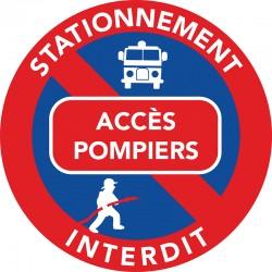 interdiction de stationner sur les accès pompiers