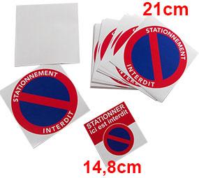 sticker interdiction de stationner